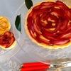 バラの花の【りんごとカスタードクリームのタルト】バター無しでも美味しく出来ます!