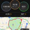 ジョグ15km 今月も距離だけは踏んだ