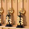 神棚の扉の前に神具を置きたい 神鏡・金幣芯・祓串・御幣など置きたい