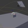 Blender カメラ等を任意の円または線上を移動させる方法