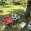 大洗キャンプ場で初デイキャンプ