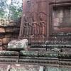 #アンコールワット個人ツアー(619) #アンコールワットの女神像と東門の風景
