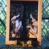 頼まれてーミュシャ「桜草」と「羽根」ステンドグラス風
