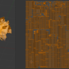 Blenderで適用させたパーティクルと、参照元のUVの関係