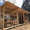 #改めまして、薪棚作り。