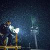 【今日の一枚】凍える寒さの夜にはしご登り