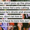 彼からの電話は取らない、ただ酔って寂しくなってかけてきてるだけだから