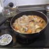 幸運な病のレシピ( 2290 )朝:煮しめ、鮭、塩サバ
