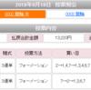 【2019年万車券19本目】132.2倍的中!