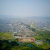 長根山運動公園の池(秋田県大館)