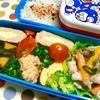 子ども弁当~中華風野菜炒め・カボチャの煮物・だし巻き~
