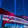 🎡神戸の夜景そのいち・神戸大橋上空照射を撮る
