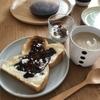 朝ご飯:粉を振っただけで幸せトースト♡グラノラにはまる長男