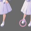 【VRoid】靴から足が突き出ても見えなくする