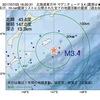 2017年07月25日 16時20分 北海道東方沖でM3.4の地震