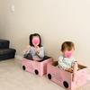 【4歳育児】ダンボール箱で汽車を作った、ルースパーツって何?