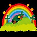 ハワイの虹の端っこで