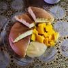 今日のラオ子ベーカリー。米粉のふわふわスフレパンケーキ