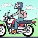 父がオートバイコミックエッセイ描いてるだけ