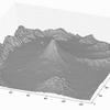 pythonで富士山の斜面勾配図を立体表示してみる