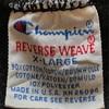 761 PART4 Champion reverse weave BLACK PLAIN 90's