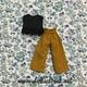 【リカちゃん服】フリルのブラウスとワイドパンツをつくりました♪
