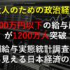 【大人のための政治経済】年収200万円以下の給与所得者が1200万人突破~「民間給与実態統計調査概要」から見える日本経済の動向
