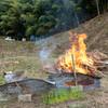 出雲の山墾り〜sec.14;菜園で竹を焼く