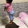 叩かれたい息子、アンパンマンにアンパンマンを食べさせる娘 - 年子育児日記(3歳2ヶ月,1歳8ヶ月)