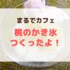 【おうちでカフェ気分】缶詰めで作る桃のかき氷の作り方