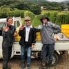 伊澤さんの畑で葡萄収穫。