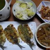 18/01/16の晩御飯(イワシのパン粉焼きカレー風味)