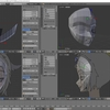 HoloLens特化のホロ恋子モデルを作成する その13(顔の調整とローポリゴン化)