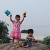 タイ生活491日目。砂遊び。