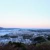 夕暮れの気仙沼 安波山と内湾地区