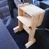 ハイエースの後部座席にテーブルを作ってみた!