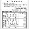 TikTok株式会社 第1期決算公告