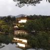 金閣寺には西日が差す頃に行けば、よりきんぴかしてます。