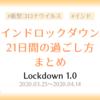 【コロナウイルス】インドロックダウン21日間の過ごし方まとめ