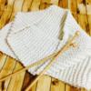 ファインメリノのスヌードを編みました