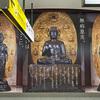 JR品川駅の新幹線構内で,奈良薬師寺の薬師三尊像パネルを見てきた