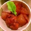 鶏手羽トロ肉と大根と蒟蒻のワイン×バルサミコ煮
