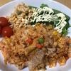 今日は朝から、昨日の残りご飯でキムチ炒飯