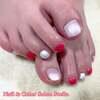新春ネイルとしてもピッタリな3色♡ピンク&レッド&ホワイトなパール系ワンカラーネイル☆
