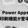 Power Apps が「印刷」に対応! キャンバススクリーンのPDF化も可能に