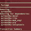 CentOSを7.6から7.7へアップデートしようとしたら失敗した python36uが使えなくなったっぽい