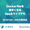 Dockerfileを生産性高く書く方法についてLTしてきた