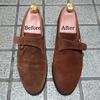 中古のジョンロブの補色をしてみた〜スエード靴の補色・スポンジタイプ〜