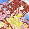 「桜の天使」オリジナルアナログイラスト:名前に合わず可愛い「ボケの花」
