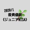 【投資信託/ジュニアNISA】2020年1月現在の資産公開